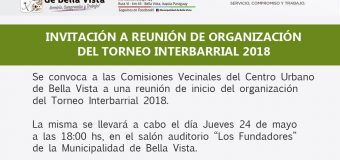 Organización Torneo Interbarrial