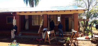 Avance de obras en la Escuela Básica Nº 1431 de Vacay km 30.