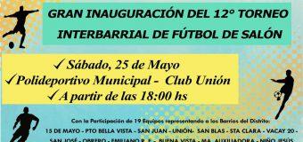 INVITACIÓN INAUGURACIÓN DEL TORNEO INTERBARRIAL