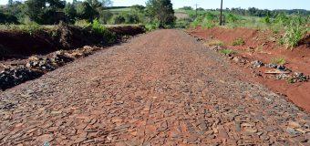 Avances en las obras de pavimentación TIPO EMPEDRADO de la calle Segundo Ibarra.