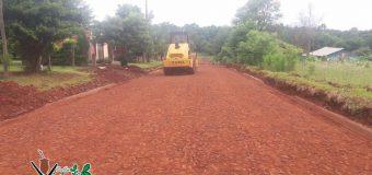 Avances de obras, pavimentación tipo empedrado realizado en el Barrio Unión.