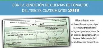 Rendición de cuentas de los fondos de FONACIDE