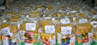 Kits de alimentos distribuidos en el Distrito de Bella Vista.