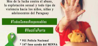 MAYOMes de la lucha contra el maltrato y abuso infantil.