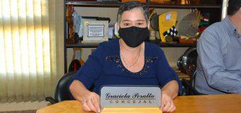 Juramento de la señora Graciela Concepción Peralta de Del Puerto al cargo de Concejal Municipal del Distrito de Bella Vista.