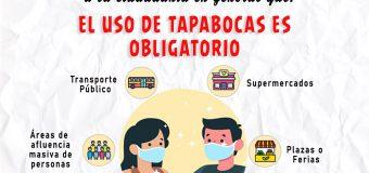 EL USO DE TAPABOCAS ES OBLIGATORIO