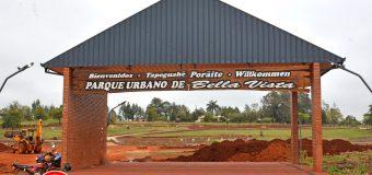 Prosiguen los trabajos de construcción en el Parque Urbano de Bella Vista