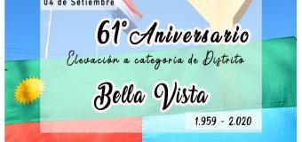 """Aniversario de Elevación a Categoría de Distrito de """"Bella Vista"""""""