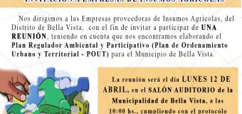 Plan Regulador Ambiental y Participativo (Plan de Ordenamiento Urbano y Territorial – POUT) para el Municipio de Bella Vista.