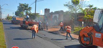 Trabajos de reparación, reconstrucción y recapado de capa asfáltica sobre la avenida General Marcial Samaniego.