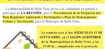 INVITACIÓN A REUNIÓN INFORMATIVA – Plan Regulador Ambiental y Participativo